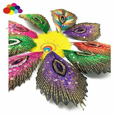 Peacock eye mixed random 3 pcs Iron on Patches Embroidered Badge Applique patch
