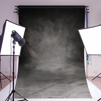 7x5FT Thin Vinyl Black Photography Background Screen Studio Backdrop Photo Props