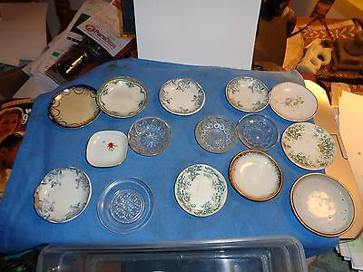 Lot of 15marked and unmarked Ironstone butterpats--varied styles and conditions-