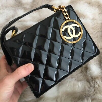1d8adad4ab9f CHANEL 100% AUTHENTIC Rare Patent Leather Strass Crystals Bon Bons ...