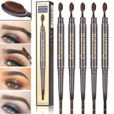Newest Women Automatic Eyebrow Pen Pencil with Brush Waterproof Cosmetic Tools