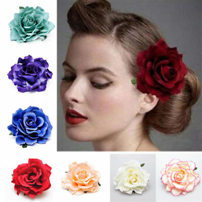 Rose Flower Hair Clip Brooch Wedding Bridal Corsage Hairpin Party Accessories
