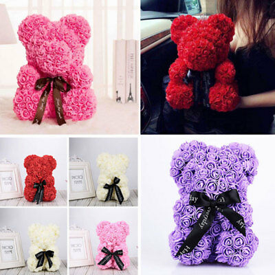 Rose Bear Teddy Bear Large Huge Luxury 40CM Pe Foam Rose Mother's Day Gift