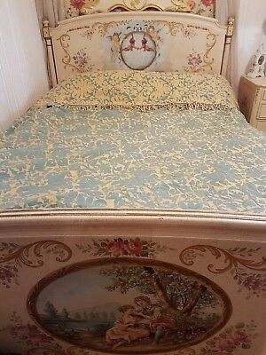 Vintage French Large Bed Spread 124 Inches X 107 Inches - Fab Quality & Detail