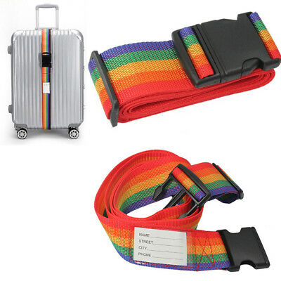 Adjustable Travel Luggage Suitcase Packing Strap Baggage Tie Safe Belt Rope Call
