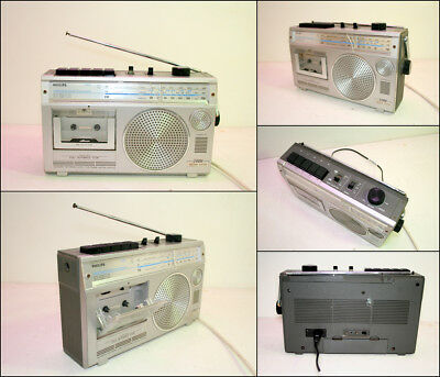 PHILIPS D7201 Cassette AM FM Radio Boombox