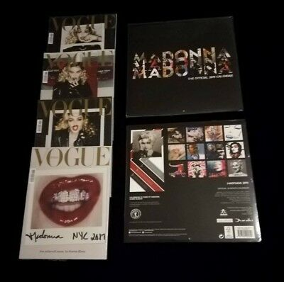 Madonna Official Calendar 2019 + 4 Vogue Italia 2017 New Sealed Rare