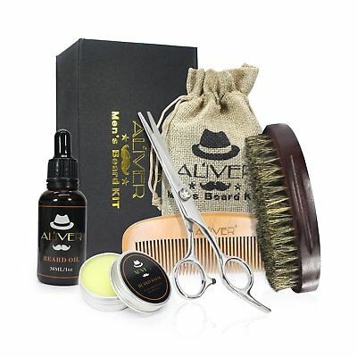 UPGRADED Beard Kit For Men Growth Grooming & Trimming W Unscented Leave In Condi