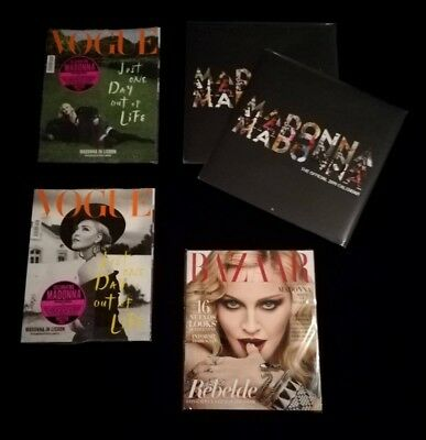 Madonna Official Calendar 2019 + 2 Vogue Italia 2018 + Bazaar Spain New Sealed
