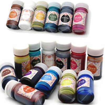 New 12 Bottles Epoxy UV Resin Coloring Dye Colorant Resin Pigment Art Crafts