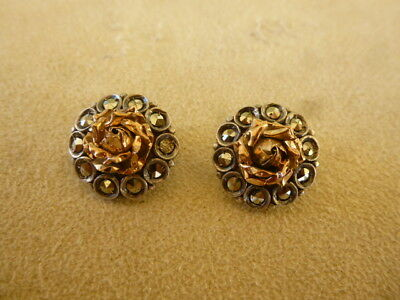 Antique Greek Rhodes Greece Rodos Aegean Traditional Jewelry Silver Gold Earring