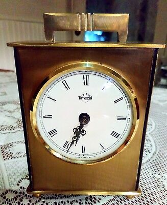 Smiths Timecal, Vintage Brass Carriage/Mantle/Desk Clock.Working Order. British