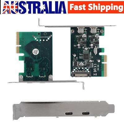 2 Port PCI-E to USB 3.1 Type C PCI Express Card Adapter For Win 7/8/10 10Gbps AU