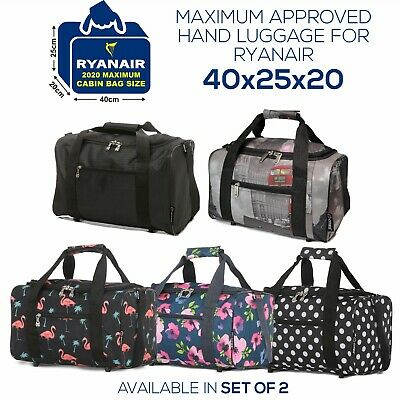 5 Cities New 2019 Ryanair 40x20x25 Maximum Sized Cabin Carry on Holdall Bag Bags