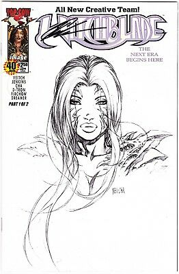 Witchblade #40 - Midwest Comics Signed Sketch Variant - Keu Cha - Ltd To 200
