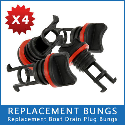 4x Replacement Bungs Only Marine/Boat Drain Bung Plugs Standard Coarse Thread AU