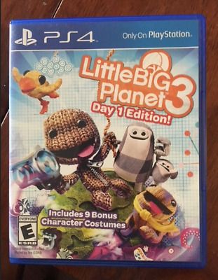 PS4 Playstation Little Big Planet 3 Day 1 Edition pre-owned