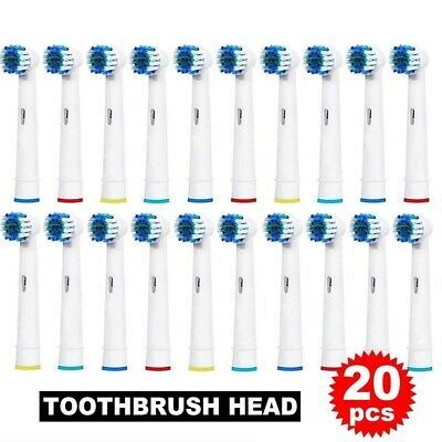 20 PCS Fit For Braun Oral B PRECISION CLEAN Toothbrush Heads Replacement Brush