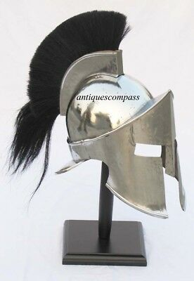 Reenactment 300 Movie Spartan King Leonidas Medieval Roman Helmet Greek Le Liner