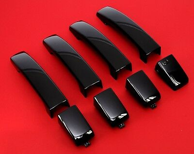 Santorini Black DOOR HANDLE skins Land Rover Discovery 3 4 clip on LRC82 covers