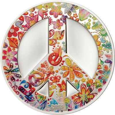 2018 $5 Summer Of Love 1oz Silver Proof Coin