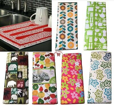 Luxury Microfibre Dish Drying Mat 38x50cm Sink Drainer Washing Up Tea Towel Pot