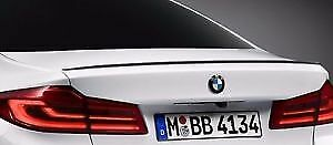 PAINTED GLOSS BLACK BMW G30 5 Series  2017 + M5 Style Boot Lip Spoiler wing trim