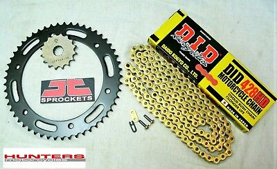 Yamaha WR125R DID Gold Heavy Duty Chain & JT Sprocket Kit Set (2009 to 2015)