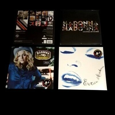 Madonna Music Blue + Erotica White Opaque Vinyl + Official Calendar 2019 Sealed