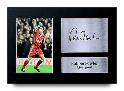 Robbie Fowler Gift Signed A4 Printed Autograph Liverpool Gifts Print Photo