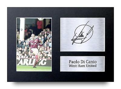 Paolo Di Canio Gift Signed A4 Printed Autograph West Ham Utd Gifts Print Photo