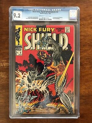 Nick Fury, Agent of Shield # 2 CGC 9.2 NM- w/ Full Color ! Awesome ! Steranko !!