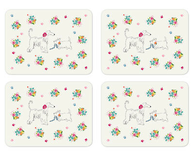 Cooksmart Dapper Dogs Set of 4 Placemats Table Setting Place Mats Dining Room
