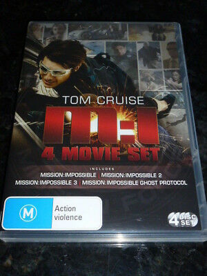 (New) Mission Impossible M:i 1 + 2 + 3 + Ghost 4-Movie Dvd - Cruise Pal Region 4