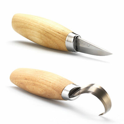 MORAKNIV WOOD CARVING SET - WOODCARVING 120 & HOOK Knife 164S MORA Carving Tools