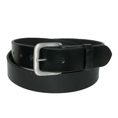 New CTM Men's Leather 1 3/8 Inch Removable Buckle Bridle Belt