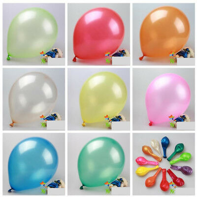 10inch Thick Colorful Round Latex Air Balloon Birthday Wedding Party Decor 50pcs