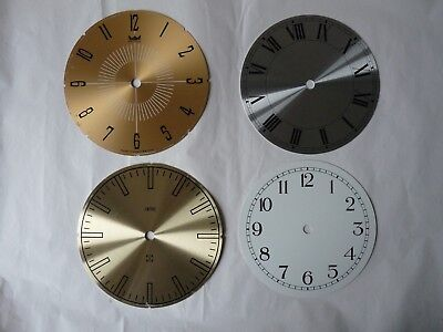 Replacement Clock Face / Dial x 4 - Vintage Smiths Astral Roman Arabic Numerals