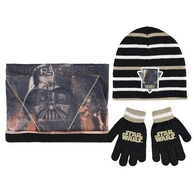 Winter Set Kinder 3 tlg. Mütze Bandana Handschuhe Disney Star Wars