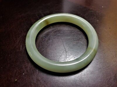 Chinese Antique Celadon Nephrite  Heitian - natural jade Bangle Bracelet