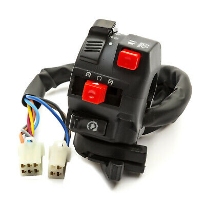 Motorcycles Handlebar Mount Cluster Switch 9 Wire Lights Choke Horn Indicator