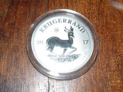 2017 1 oz Silver Krugerrand BU with Certificate South African Mint