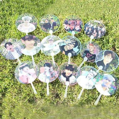 Kpop Transparente Fan Exo Bts GOT7 Wannaone Portable Mini Portátil Fan
