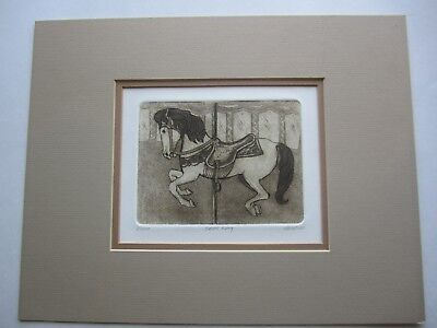 """KEITH LEE """"Brass Ring"""" Sepia Etching Print Limited Ed. Signed & numbered 11""""x14"""""""