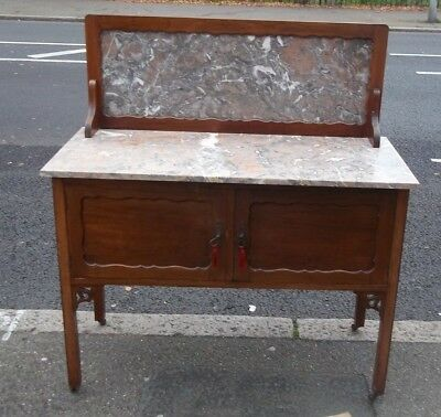 Edwardian style marble topped wash stand