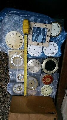 14 Vintage Clock Faces. Used