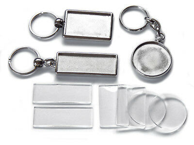 Blank Double Sided Chrome Metal Keyrings 3 Gift Pack Bundle High Quality