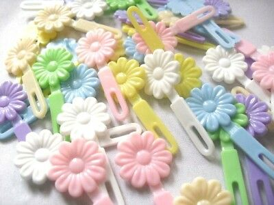40 Barrettes Hair Bows Purple Pink Green Girl Baby Ponytail Dress Clip Doll