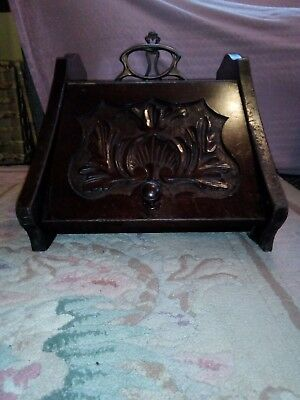 Lovely Wooden Coal Scuttle With Liner