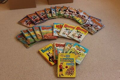 Selection Of Beano Annuals ranging from 1967 to Present